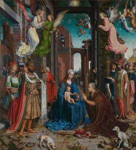 Jean Gossart, active 1508; died 1532 The Adoration of the Kings 1510-15 Oil on oak, 179.8 × 163.2 cm Bought with a special grant and contributions from The Art Fund, Lord Glenconner, Lord Iveagh and Alfred de Rothschild, 1911 NG2790 http://www.nationalgallery.org.uk/paintings/NG2790
